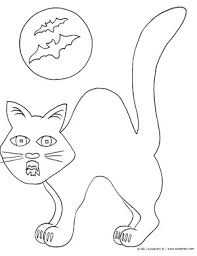 halloween cat free halloween coloring pages print color