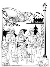steampunk coloring pages free coloring pages