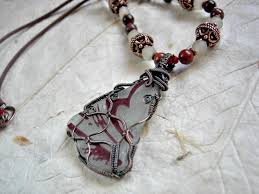 butterfly wing necklace images Glass butterfly wing necklace copper wire wrap elksong jewelry jpg