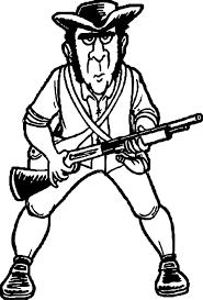 american revolution minute man revolutionary war soldier cartoon