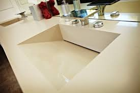Bath Vanity Top Caesarstone Quartz Vanity Top W Double Ramped Sinks