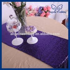 eggplant colored table linens ru017d custom made nice wedding sequence eggplant purple sequin