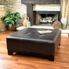 brown leather ottoman coffee table inspirational brown leather