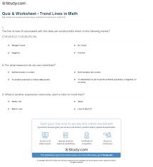quiz u0026 worksheet trend lines in math study com