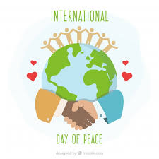 international day of peace united around the world vector