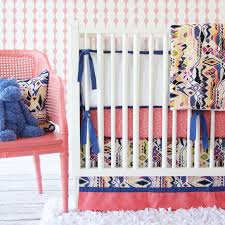 Navy And Coral Crib Bedding Design Inspiration Navy S Nursery
