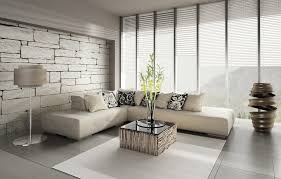 brick wallpaper decor minimalist living room interior design