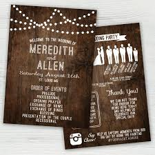 country wedding programs rustic wedding program silhouette wedding program rustic wedding
