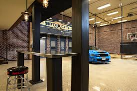minneapolis inside garage eclectic with mustang d pendant lights