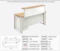 Modern Office Reception Table Design Modern Melamine Office Reception Table Design And Front Office