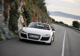 Audi R8 Front - audi r8 spyder 5 2 fsi quattro ibis white front eurocar news