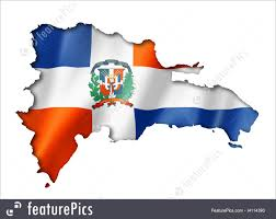 Domenican Flag Flags Dominican Republic Flag Map Stock Illustration I4114390