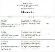 reference list sample previousnext resume reference list 12