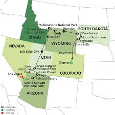 Utah Parks Map by National Parks U0026 Canyon Country With Little Bighorn