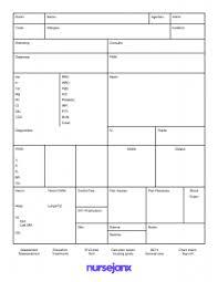 icu report sheet template nursejanx store
