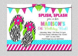 pool party invitations flip flop birthday invitation splish splash pool party
