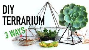 diy geometric glass terrariums 3 ways diy dupes 4 youtube