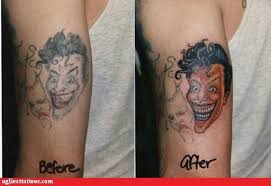 joker tattoo video remember that video for batdance where prince is dressed as the