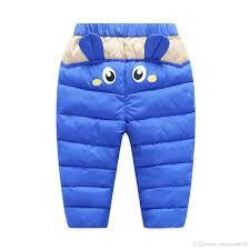 boys light blue dress pants baby pants pu surface winter warm for boys girls waterproof clothing