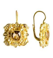 citrine earrings catherine of aragon citrine earrings museum of jewelry