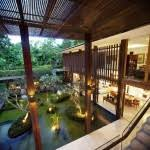 Corner Plot Modern Green Home Design With Open Room And Garden - Modern green home designs