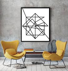 Modern Wall Art Wire Modern Art Minimalist Poster Art Print Abstract