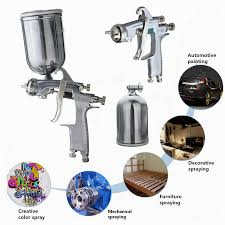 w101 hvlp 1 0mm tip paint spray gun gravity feed base coat sprayer