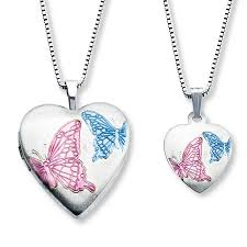 butterfly sterling silver necklace images Jared mother daughter necklaces heart w butterflies sterling silver jpg