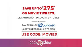 bookmyshow offer get rs 275 off on movie tickets using bms coupon