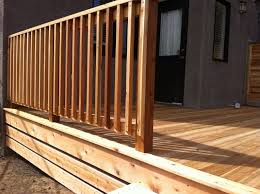 outdoor u0026 garden unfinished wood deck railing design with