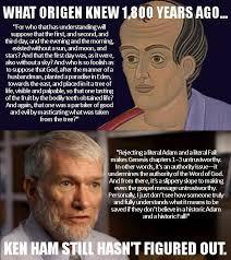 Ham Meme - origen vs ken ham