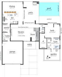 house blueprint plans modern simple pool 2015 luxury plan