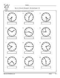 telling time assessment worksheet telling time to the nearest minute worksheets
