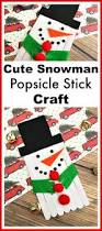 cute snowman popsicle stick craft winter kids activity