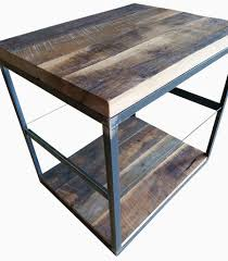 round wood and metal side table furniture wood and iron end table white metal side table wood