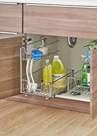 kitchen sink cabinet organizer amazon com trinity sliding under sink organizer home kitchen