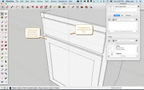 How To Add Knobs To Kitchen Cabinets How To Draw A Basic Kitchen Cabinet In Sketchup Design Student Savvy