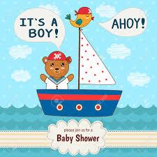 cute baby shower invitation card it u0027s a boy in nautical style