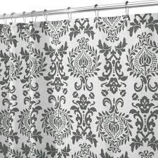 Black And White Paisley Shower Curtain - interdesign 40423 shower curtain damask charcoal gray greydock com
