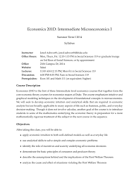economics 201d intermediate microeconomics i