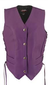 womens motorcycle jacket women u0027s royal purple leather vest