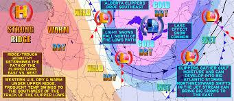 Jet Stream Map Jet Stream Patterns In The Cool Season Amplified Flow Missouri