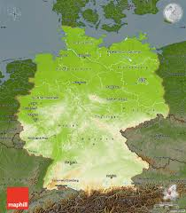 Map Og Germany by Physical Map Of Germany Darken