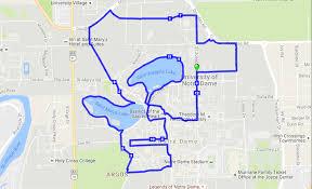 Notre Dame Campus Map The Notre Dame Holy Half Marathon World U0027s Marathons