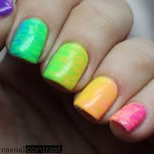 perfect match summer 2017 retro remix collection rainbow nail art