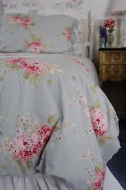 shabby and elegant blue rose pink gingham 4pc bedding set queen