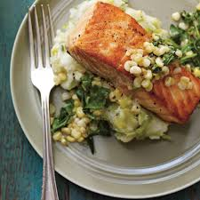 poireaux cuisiner saumon poêlé et purée de pommes de terre aux poireaux ricardo