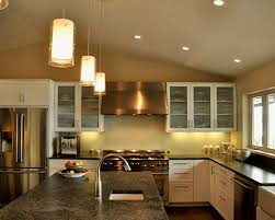 Stone Kitchen Island by Kitchen Room Design Excellent Drum Shape Glass Pendant Lighting