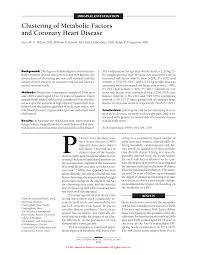 clustering of metabolic factors and coronary heart disease
