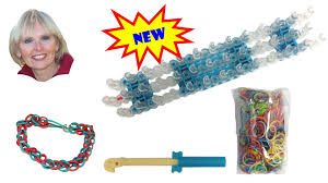 how to make the single loop rubber band bracelet using the